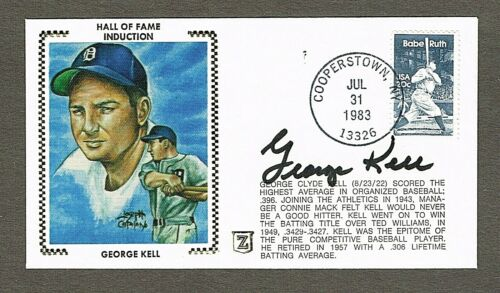 George Kell Autographed Silk Cachet 1st Day Cover ExMt+ Detroit Tigers with COA