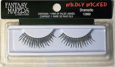Fantasy Makers Wildly Wicked Lashes Dramatic #12880 Silver Halloween