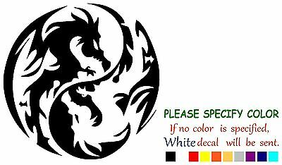 Dragon Ying Yang Tribal Funny Vinyl Decal Sticker Car Window Laptop Tablet 6