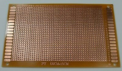 12 Pcs Single Sided Stripboard Pcb Proto Perf Board Bakelite 9x15 Cm Usa Ship