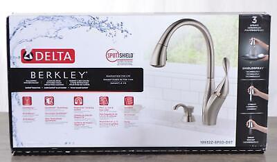 NEW Delta Berkley Kitchen Faucet Single Handle w/ Soap Dispenser Stainless Steel