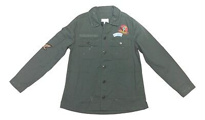Green Jacket - Military Olive Green Size Medium Button Down Arizona Patch Shirt Jacket NEW