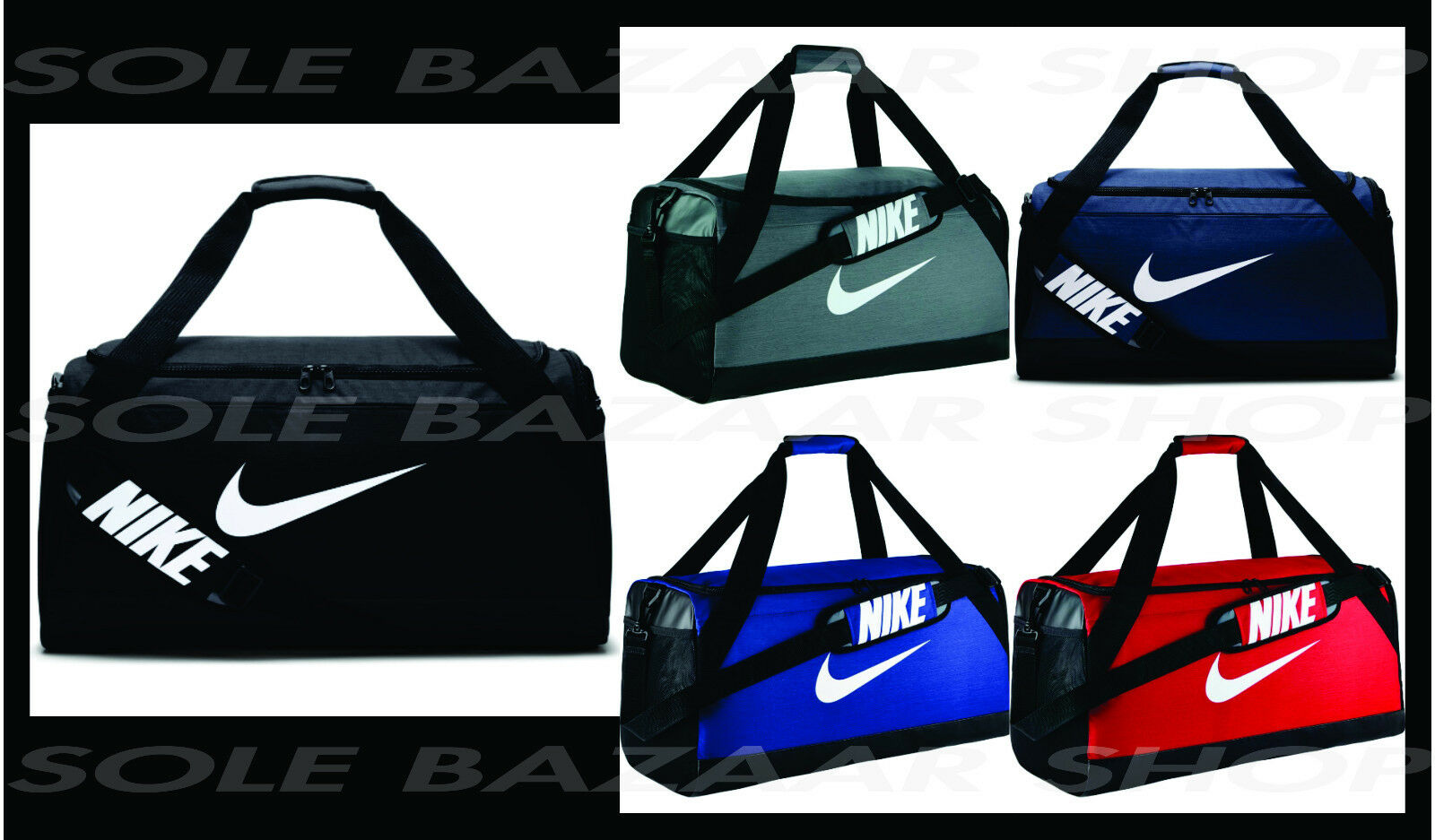 UNISEX NIKE BRASILIA (MEDIUM) TRAINING DUFFEL BAG ASST. COLORS фото 40a9aab7291a0