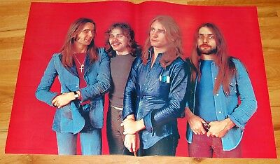 STATUS QUO Group Pose 27x40 Poster 1970's Personality Posters England #1224