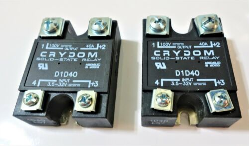 NEW CRYDOM SOLID-STATE RELAY D1D40 (QTY 2)