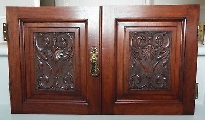 Antique Small Carved Mahogany Doors Panels