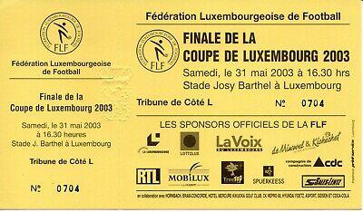 Ticket: Finale de la Coupe de Luxembourg 2003 (31-5-03)