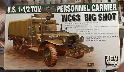 AFV Club 1/35 US 1-1/2 Ton 6x6 Personnel Carrier WC63 Big Shot 35s18