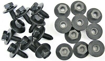 Honda Acura Body Bolts & Barbed Nuts- M8-1.25 x 25mm Long- 13mm Hex- 20 pcs #400