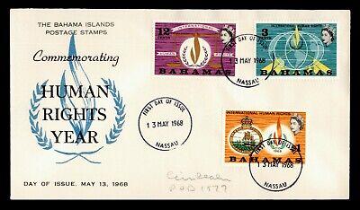 1968 BAHAMAS FDC HUMAN RIGHTS