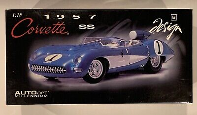 New in Box!  Auto Art 1957 Chevrolet Corvette SS 1:18 Scale Die Cast Model