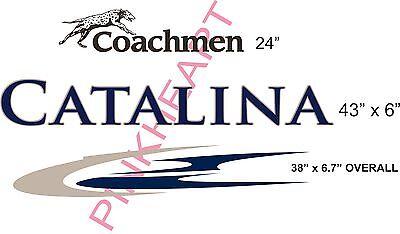 Coachmen 2 toned Catalina Decals RV sticker decal graphics trailer camper rv