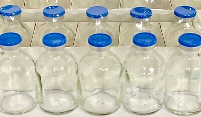 30ml Serum Vial Clear 25 Pack Blue