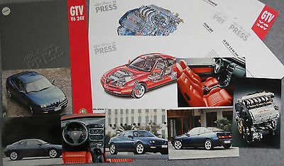Alfa Romeo GTV 916 V6 24v Original Press Pack 1996 Photographs x 9