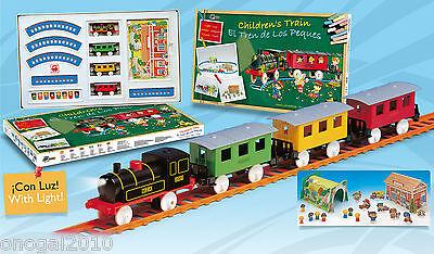 Tren Electrico de Juguete Infantil LUZ Estacion Tunel Muñecos de Pequetren 2001