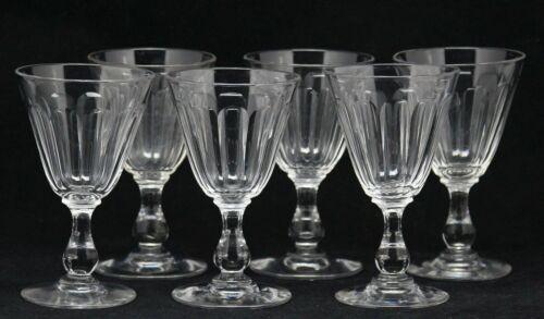 6x antique 19th century crystal Wine Glass, ca.1890
