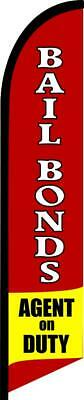 Bail Bonds Agent On Duty 15 Ft Tall Feather Swooper Flag Banner Kit