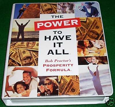 BOB PROCTOR - THE POWER TO HAVE IT ALL LIVE SEMINAR - 8 CD + 2 VHS  MSRP $180.00