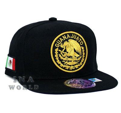 MEXICAN hat MEXICO Federal State Logo Snapback Flat bill Baseball cap-GUANAJUATO