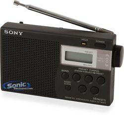 Sony ICF-M260 AM/FM PLL Synthesized Clock Radio with Digital Tuning & Alarm NEW