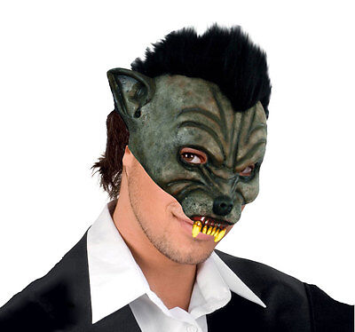 ADULT WEREWOLF MASK WOLF MAN MENS SCARY LATEX OVERHEAD COSTUME HALLOWEEN NEW