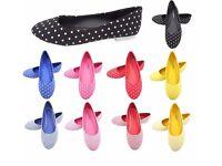 Job Lot Ladies Shoes - Ballet Pumps, Mix colours and sizes - Sets of 90