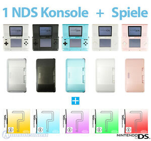 nintendo ds 1 konsole farbe nach wahl gratis spiele inkl stromkabel top. Black Bedroom Furniture Sets. Home Design Ideas
