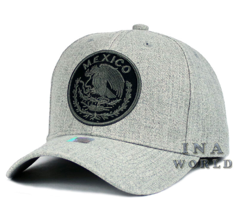 06ba88d655668 MEXICAN hat MEXICO Federal Logo Embroidered Curved bill Baseball cap ...