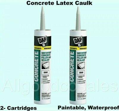 Concrete Latex Caulk 2- Cartridges Paintable Waterproof Filler Mortar Sealant