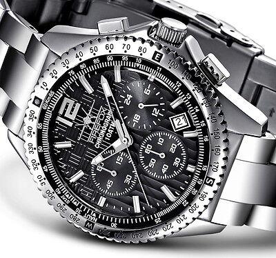 FIREFOX Edelstahl Herrenuhr Armbanduhr mit Seiko Chronograph VD53 10 ATM