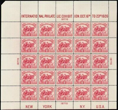 630, VF NH White Plains Souvenir Sheet of 25 Stamps Cat $600.00 * Stuart Katz