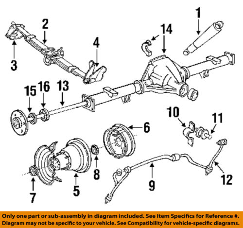 ford f 350 rear axle diagram