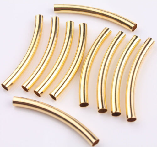 Pcs gold silver plated elbow smooth curved tube
