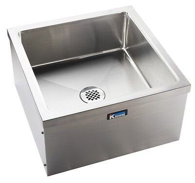 Krowne Metal Ms-2424 24wx24d Stainless Steel Mop Sink W Removable Front Panel