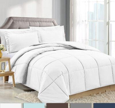 - 3 Piece Reversible Down Alternative Comforter Set - Comforter with Shams