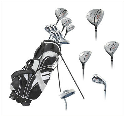 NEW Precise GT-R Mens Complete Right Handed Golf Club Package Set - Silver