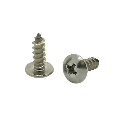 100 Qty 8 X 12 Truss Head 304 Stainless Phillips Head Wood Screws Bcp94
