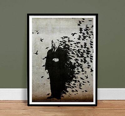 "BANKSY HITCHCOCK THE BIRDS - Graffiti Street Art Mr Brainwash 18x24"" Poster Gift"
