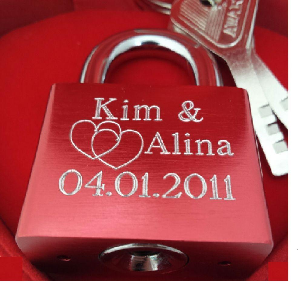 Liebesschloss inkl Gravur für Valentinstag Geburtstag Liebes Geschenk