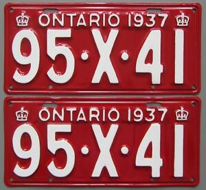 Vintage YOM License Plates - MTO Approval Guaranteed London Ontario image 3
