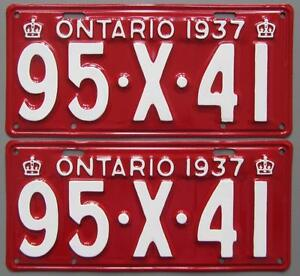 Classic Car YOM License Plates - Ministry Approval Guaranteed! Belleville Belleville Area image 2