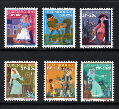 (Ref-5368) Luxembourg 1965 Welfare Funds (Fairy Tales) SG.771/776 Mint (MNH)