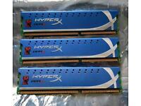 KINGSTON HYPERX 3X2GB (6GB) DDR3 RAM