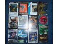 13 various PC GAMES selling cheap