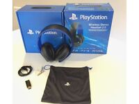 PS4 Wireless 2.0 Stereo Headset compatible with PS VITA & PS3