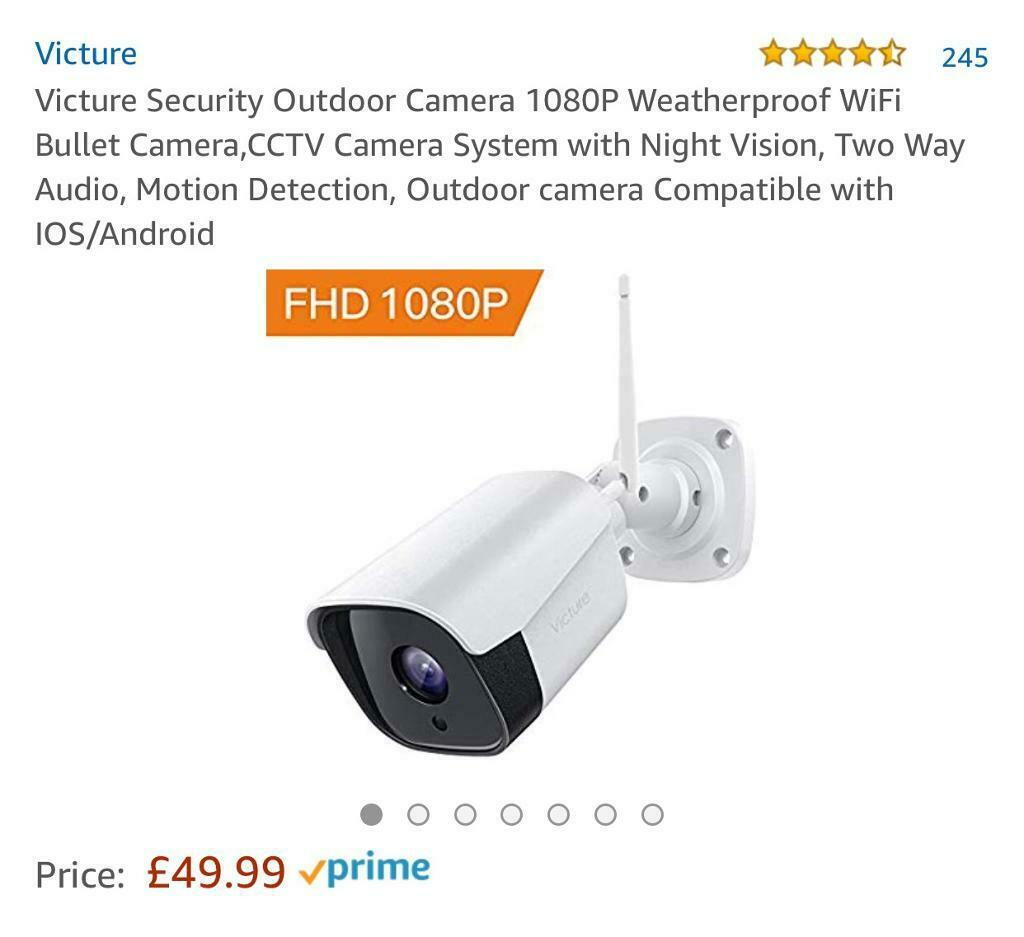 Brand new- Victure Security Outdoor Camera 1080P Weatherproof WiFi Bullet  Camera, | in Swindon, Wiltshire | Gumtree
