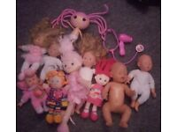 Baby dolls teddies bundle - inc Zapf Creation Doll