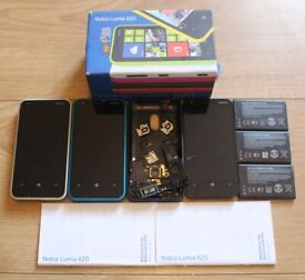 Nokia Lumia 620 Windows Phones (spares or repair) [SIM FREE / UNLOCKED] plus earphone bundle