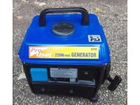 Lightweight Portable Quiet Petrol Generator UK 3-Pin Mains 240v 720W