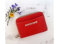 Red Leather purse wallet. New